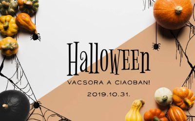 Halloween menü 2019