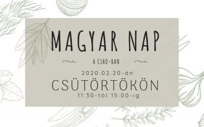 Ismét magyar nap a Ciao-ban, február 20-án